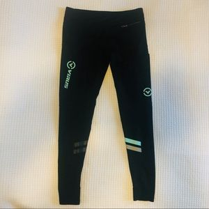 Virus Compression Leggings Tights Pant Black Teal